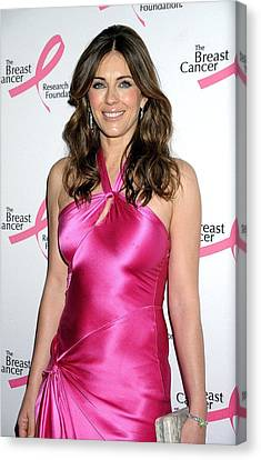 Elizabeth Hurley At Arrivals For Hot Canvas Print by Everett