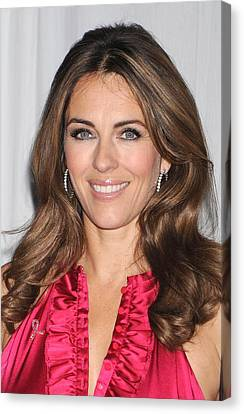 Elizabeth Hurley At In-store Appearance Canvas Print by Everett