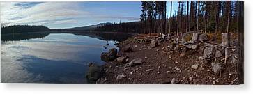 Elk Lake Panorama Canvas Print by Twenty Two North Photography