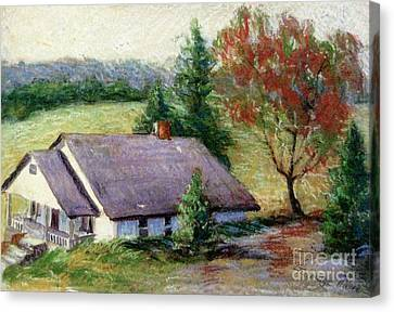 Ellijay Home Canvas Print by Gretchen Allen