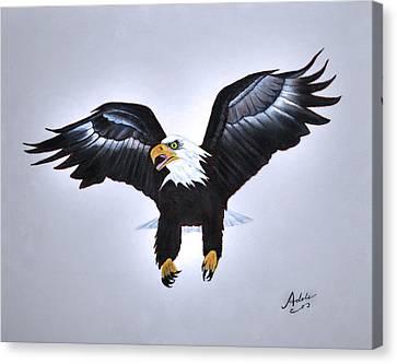 Elliott The Eagle Canvas Print by Adele Moscaritolo