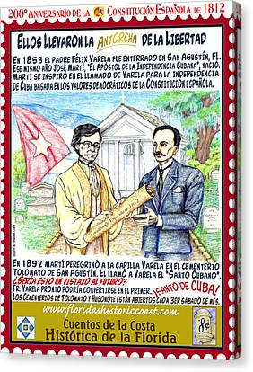 Canvas Print - Ellos Llevaron La Antorcha De La Libertad by Warren Clark