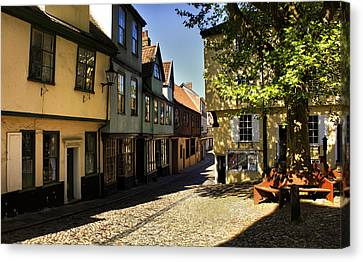 Elm Hill Norwich Canvas Print by Darren Burroughs