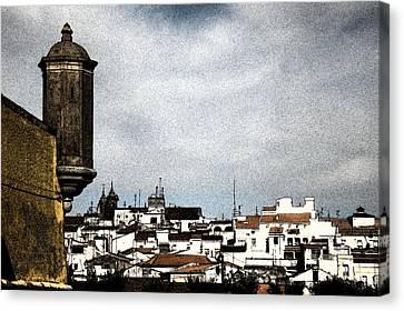 Elvas Castle And Village  Canvas Print by Agostinho Goncalves
