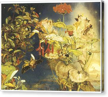 Elves Canvas Print - Elves And Fairies A Midsummer Night's Dream by John George Naish