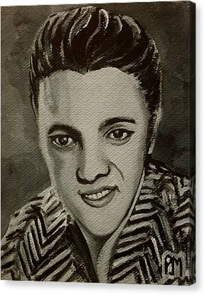 Elvis In Z Shirt Canvas Print by Pete Maier