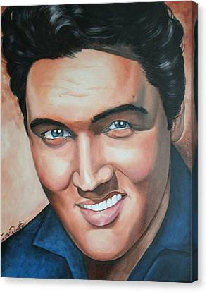 Portraits By Timothe Canvas Print - Elvis Presley by Timothe Winstead