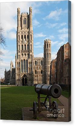 Canvas Print featuring the photograph Ely by Andrew  Michael