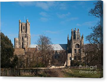 Ely Cathedral In City Of Ely Canvas Print by Andrew  Michael