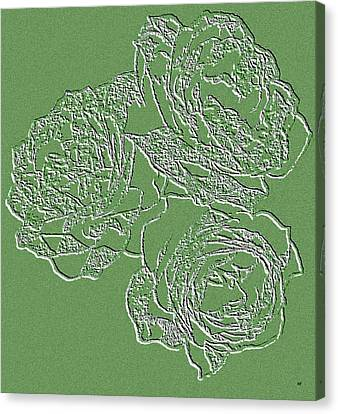 Embossed Roses Canvas Print by Will Borden