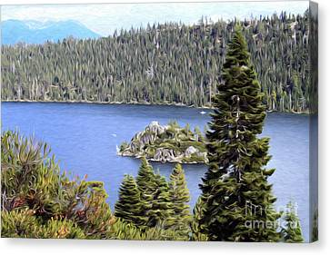 Canvas Print featuring the photograph Emerald Bay State Park by Anne Raczkowski