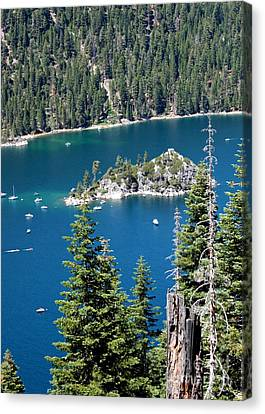 Emerald Bay Vertical Canvas Print