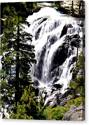 Canvas Print featuring the photograph Emerald Bay Waterfall by Anne Raczkowski