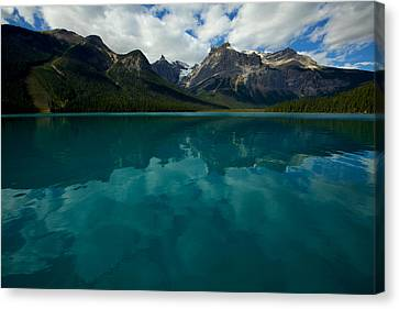 Canvas Print featuring the photograph Emerald Lake by Jane Melgaard