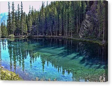 Emerald Mountain Pond Canvas Print by Jo-Anne Gazo-McKim