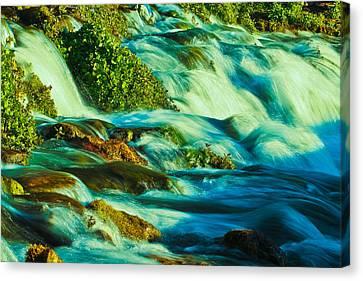 Rapids Canvas Print - Emerald Rush by Joshua Dwyer
