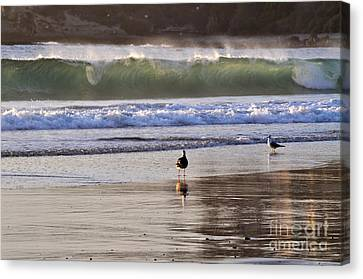 Canvas Print featuring the photograph Emerald Wave by Johanne Peale