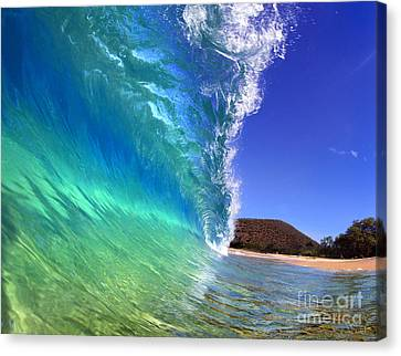 Michael Sweet Canvas Print - Emerald Wave by Michael Sweet