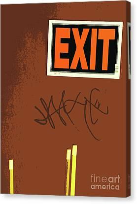 Emergency Exit Canvas Print by Joe Jake Pratt