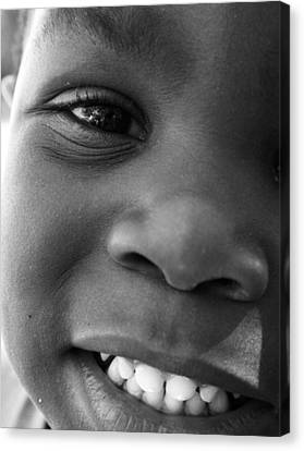 Emery Smile Canvas Print by Sally Bauer