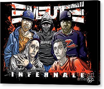 Emeute Infernale - Black Version Canvas Print by Tuan HollaBack