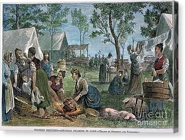 Emigrants: Arkansas, 1874 Canvas Print by Granger