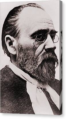 Emile Zola 1840-1902, French Novelist Canvas Print by Everett