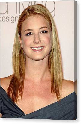 Emily Vancamp At Arrivals For 2009 Canvas Print by Everett