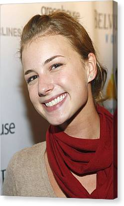 Emily Vancamp At Arrivals For Nhl Canvas Print by Everett