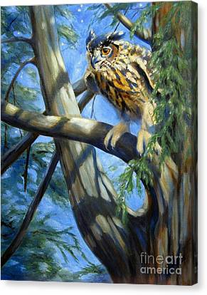 Canvas Print featuring the painting Eminent Flight by Pat Burns