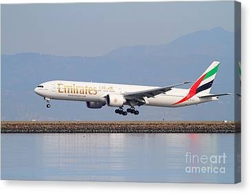 Emirates Airline Jet Airplane At San Francisco International Airport Sfo . 7d12100 Canvas Print by Wingsdomain Art and Photography