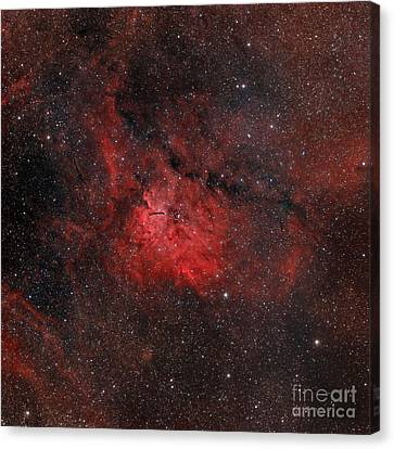 Emission Nebula Ngc 6820 Canvas Print by Rolf Geissinger