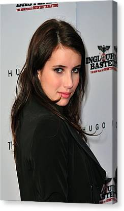 Inglourious Basterds Cinema Society Screening Canvas Print - Emma Roberts At Arrivals by Everett
