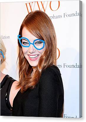 Cipriani Restaurant Wall Street Canvas Print - Emma Stone At Arrivals For The by Everett