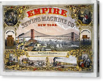 Empire Sewing Brooklyn Canvas Print by Charles  shoup