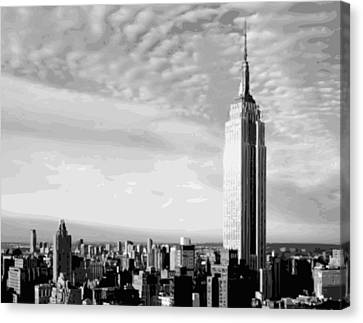 Empire State Building Bw16 Canvas Print by Scott Kelley