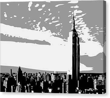 Empire State Building Bw3 Canvas Print by Scott Kelley