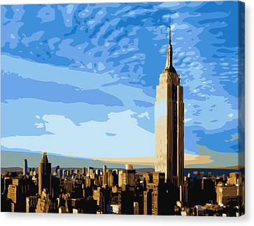 Empire State Building Color 16 Canvas Print by Scott Kelley