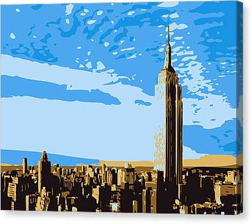 Empire State Building Color 6 Canvas Print by Scott Kelley