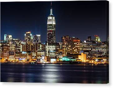 Empire State Building From Hoboken Canvas Print by Val Black Russian Tourchin
