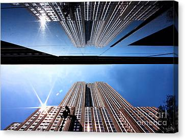 Empire State Building Reflections Canvas Print by Nishanth Gopinathan