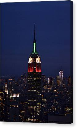 Empire State Building1 Canvas Print by Zawhaus Photography