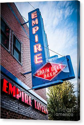 Empire Tavern Sign In Fargo North Dakota Canvas Print
