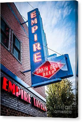 Empire Tavern Sign In Fargo North Dakota Canvas Print by Paul Velgos