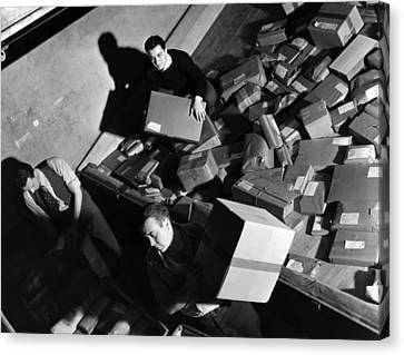 Employees At Macys Department Store Canvas Print by Everett
