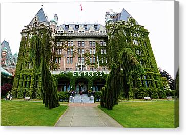 Empress Hotel - Victoria Canada  Canvas Print by Gregory Dyer