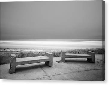 Benches Canvas Print - Emptiness by Larry Marshall