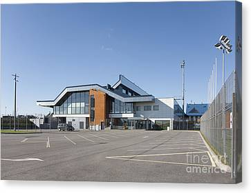 Empty Airport Parking Lot Canvas Print by Jaak Nilson