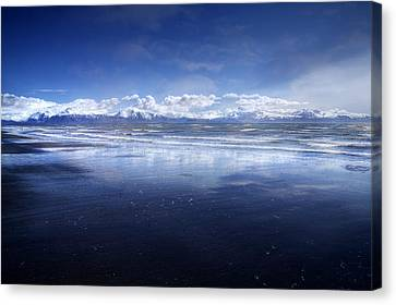 Empty Beach Canvas Print by Michele Cornelius