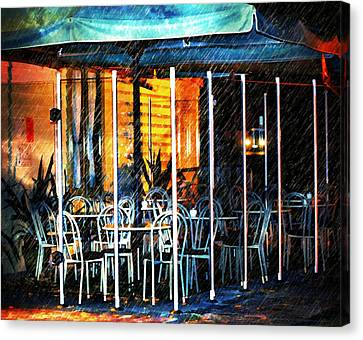 Empty Chairs And Empty Tables Canvas Print